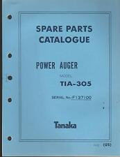 1988 & EARLIER TANAKA POWER AUGER  MODEL TIA-305 PARTS MANUAL