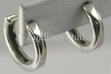 .925 Sterling Silver Huggie Earrings Fine Jewelry #OZE-57
