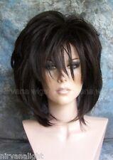 Natural Black Layered Womans Nirvana Tina Turner Drag? Wig