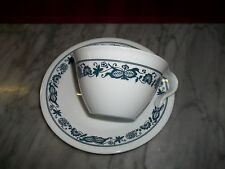 Vintage Corelle Old Town Blue Onion Coffee Cup Hook Handles &  Saucer
