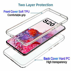 For Samsung Galaxy S8 s8+ s9+ s10+  Full Body 360 Shockproof Silicone Case Cover