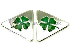PAIR Alfa Romeo MiTo Cloverleaf Wing Badges 50521786 50521787 Brand New Genuine