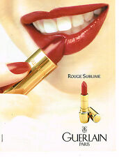 PUBLICITE ADVERTISING 025  1993  GUERLAIN collection rouge à lèvres