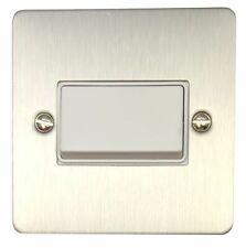 G&H FSS69W Flat Plate Brushed Steel 1 Gang Triple Pole 10A Fan Isolator Switch