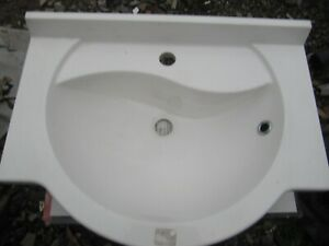 Recessed Bathroom Inset Basin 600 long x 450 wide to fit in worktop 1 tap hole