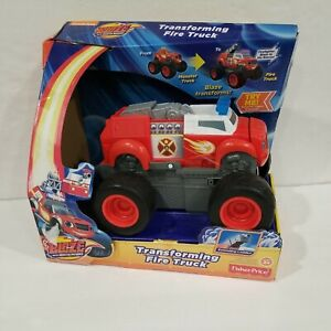 2015 Blaze and the Monster Machines MOC Transforming Fire Truck Toy Fisher Price