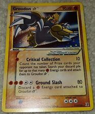 SHINING GROUDON 111/113 Ultra Rare EX Gold Star Holo Foil Pokemon Card