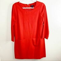 J.CREW Jules Red Stretch Wool 3/4 Sleeve Lined Mini Dress with Pockets Size 6