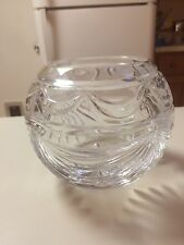 Crystal Bowl Vase made in Poland 24% lead Crystal