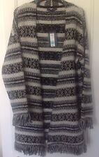 Marks and Spencer Collection Cardigan BNWT Size M Black Mix