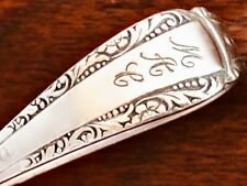 SWEET WEBSTER CO STERLING SILVER CURVED HANDLE BABY SPOON MONOGRAM MAC