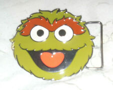 Oscar The Grouch Belt Buckle Sesame Street Geek Gift Retro Kids Fit Snap Belt St
