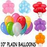 25 X Plain Balloons Party Birthday Wedding helium Baloons Free Balloons Ribbons