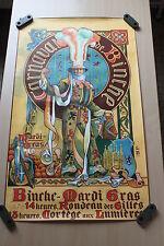OLD POSTER AFFICHE GILLES DE BINCHE 1910 CARNAVAL MARDI GRAS KARNAVAL