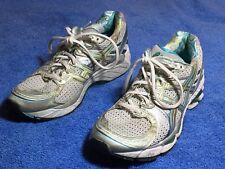 Women's Asics Gel-Kayano 17 Size 9 White Silver Aqua Teal Running Shoes