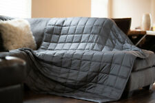 """Cooling Weighted Blanket   Premium Cotton   48x72"""" 15 lbs Two Day Shipping"""