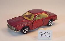 Majorette 1/60 Nr. 235 BMW 3,0 CSI rotmetallic Nr. 4 #792
