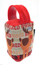 Traditional Tapestry Door Stop. Rudolph Red Nosed Reindeer Design Gift for Home