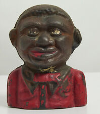 CAST IRON YOUNG BOY COIN BANK! GREAT COLLECTIBLE PIECE OF BLACK AMERICANA!