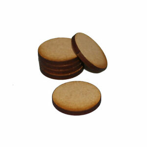 ROUND (CIRCLE) 10mm NATURAL MDF BASES for Roleplay Miniatures