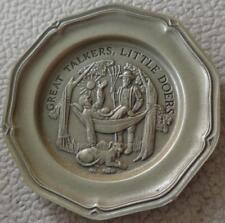 Great Talkers... - Franklin MInt Miniature Collectible Plate - VGC BRONZE