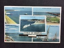 More details for vintage postcard - isle of wight #c - rp unusual pull out multi view