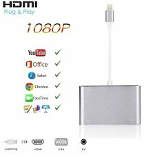 Lightning to HDMI VGA Digital AV Multiport Audio 3.5mm For iPhone X 8 XS XR iPad