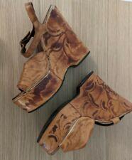 Wonder Wedge Bonnie Smith For Kimel Vintage Platform heel Sandals 1970's