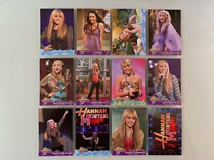 2008 Hannah Montana / Miley Cyrus Sticker Cards Lot of (12) NM/MT