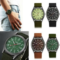 2018 NEW Military Army Men's Canvas Calendar Analog Quartz Sports Wrist Watch