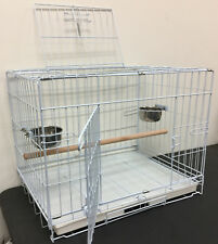 "Large 24"" Foldable Parrot Bird Travel Carrier Cage With Two Doors 479"