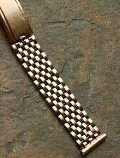 JB Champion USA 16mm vintage watch bracelet pink and white gold filled 1940s NOS