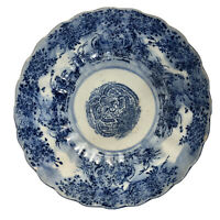 19th Century Antique Japanese Imari Porcelain Bowl - Blue White, Meiji Period