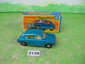 vintage matchbox superfast diecast 64 MG 1100 boxed 2136
