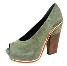 Surface To Air Womens 39 Gray Open Toe Platform Shoe