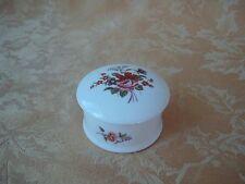 New Hall Staffordshire Bone China Trinket Box England, Floral Design, Pink Rose