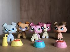 5x Littlest Pet Shop LPS Collie Dog #2452#1262#893#363#1723 Very Rare Gift