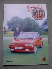 Enjoying MG (Nov 1993) MGB GT v Maestro, MG Midget 2000 TC, Heritage reshell