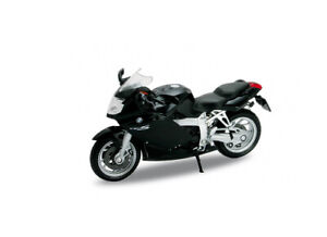 BMW K1200 S in Black (1:18 scale by Welly 12829)
