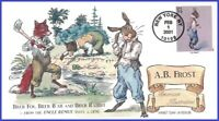 US #3502g U/A COLLINS HAND PAINTED FDC   American Illustrators A. B. Frost