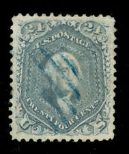 momen: US Stamps #70b Used Steel Blue SUPERB App.