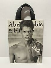"""Collectible 9x12"""" Vintage Abercrombie Fitch Gift Bag Cloth Handles"""