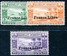 NOUVELLE HEBRIDES 1941 Yvert 124-126 ** POSTFRISCH TADELLOS FRANCE LIBRE (F3831