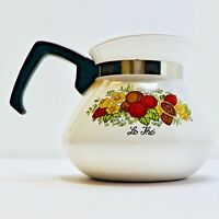 Vintage Corning Ware Le The Spice of Life 6 Cup Teapot/Kettle with Lid P-104