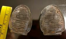 Vintage Hendryx & Happiness Glass Bird Cage Feeder/Water Seed Cups Made in Usa