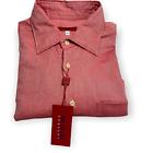 Pal Zileri Sartoriale Men's Pink 100% Cotton Shirt Regular Fit, size XL US
