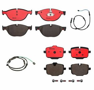 Brembo Front & Rear Ceramic Brake Pads with Sensors Kit for BMW F06 F10 F12 F13