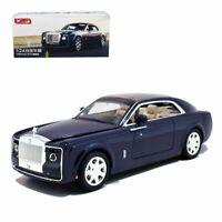 1:24 Rolls-Royce Sweptail Metal Diecast Model Car Light Sound Pullback Blue Xmas