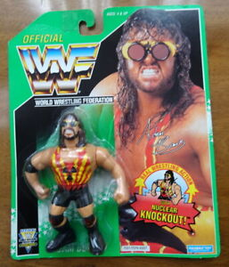 Vintage 1994 WWF Figure ADAM BOMB! Green Series MOC