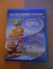 Rango/Yogi Bear Blu-ray Disc, 2014, 2-Disc Set in Very Good Condition